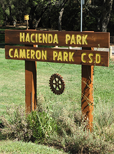 Sign at Hacienda Dog Park