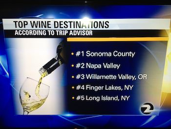 Top Wine Destinations list