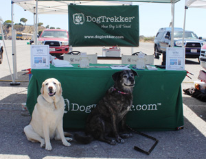 Kayla & Layah at the DogTrekker booth