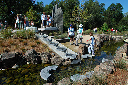 Water feature at Mcconnell Botanic Gardens