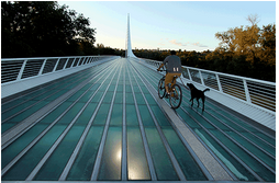 Sundial Bridge with dog