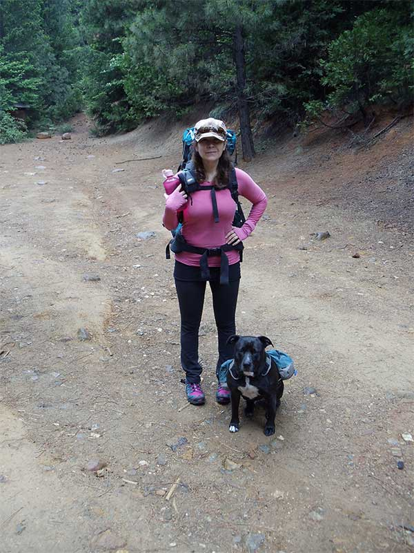 Izora and Schay backpacking