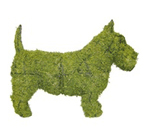 Dog-shaped topiary frame