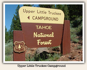 Upper Little Truckee Campground sign