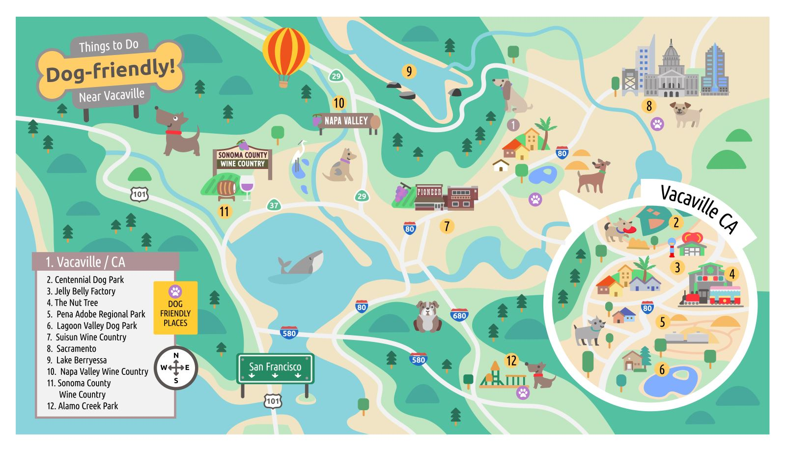 Vacaville Outlets Map >> Dog Friendly Vacaville
