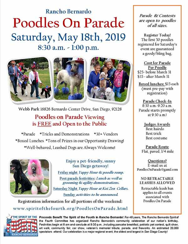 3rd Annual Poodles On Parade Extravaganza
