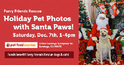 Furry Friends Rescue Pet Photo with Santa Paws & Holiday Photos!