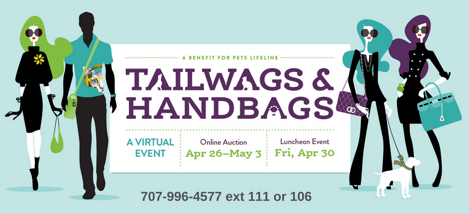 Tailwags & Handbags, An Online Benefit for Pets Lifeline