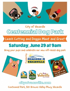 Leash-Cutting Ceremony for the Centennial Dog Park in Vacaville!