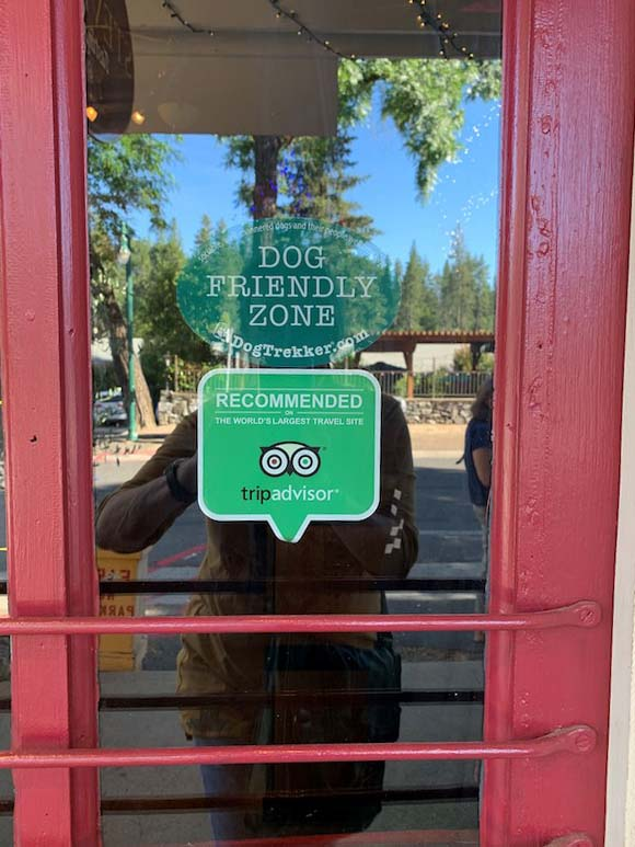 Front door of concord visitor center