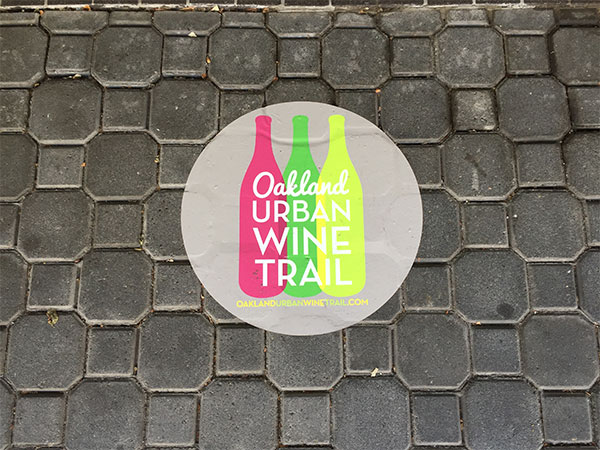 Oakland urban wine trail logo