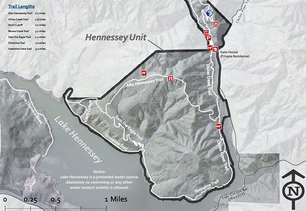 Hennessey Unit Trail Map