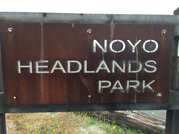 Noyo Headlands Park sign
