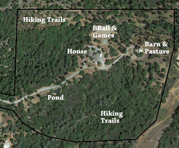 map of Dog & Pony Ranch