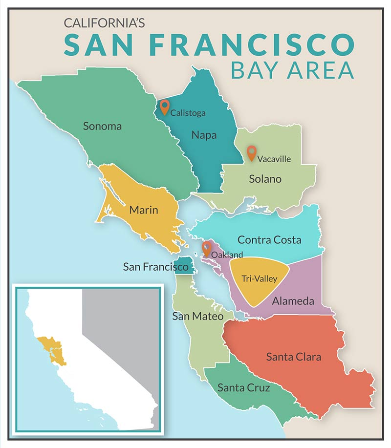 San Francisco Napa Valley Map | Michigan Map