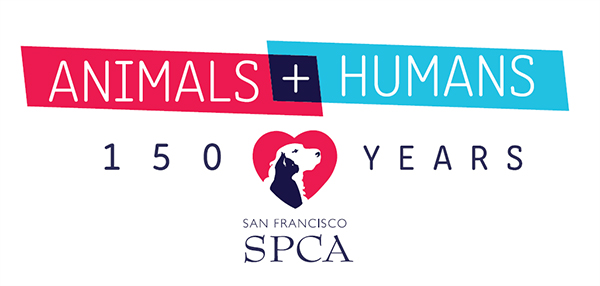 San Francisco SPCA 150 Year Birthday logo